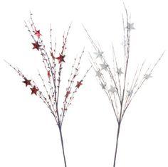 "RAZ Imports - Patriotic Red & Silver Star Sprays 30"" PerfectlyFestive http://www.amazon.com/dp/B00A2XCI5A/ref=cm_sw_r_pi_dp_uV7mvb14CGAFK"
