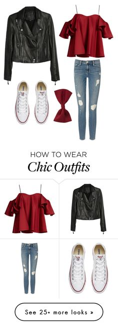"""""""Summer chic"""" by kelseymarie-5 on Polyvore featuring Frame Denim, Anna October, Paige Denim, Converse and New Look"""