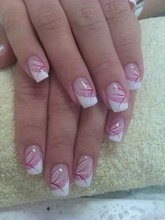 Gel nail designs for summer simple french nailart. Regardless of whether French tip nails started from the nation or were named for the classy natives, French Nail Designs, Short Nail Designs, Simple Nail Designs, Acrylic Nail Designs, Nail Art Designs, July 4th Nails Designs, Pedicure Nail Designs, Hair Designs, French Manicure Nails