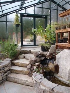 Fivewall Interior Greenhouse I can imagine retreating to the lower portion be find peace...
