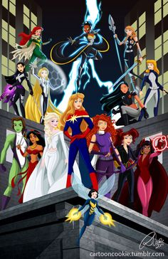 Disney Princesses As Superheroes - Seventeen