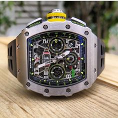 Amazing New Re-designed Richard Mille RM011-03 Automatic Flyback Chronograph in 18K White Gold.