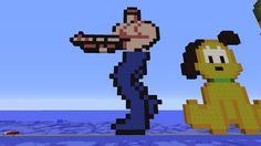 Nouveau Pixel art Minecraft, Construction, Vaulting, Pixel Art, Fallout Vault, Video Games, Fictional Characters, Building, Videogames