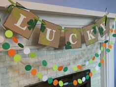 St Patricks Day Decorations Lucky Banner by anyoccasionbanners, $20.00