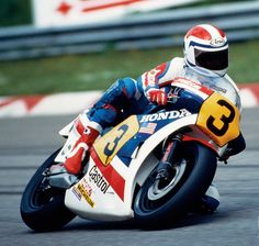 Freddie Spencer on a Honda NS500 in 1983.