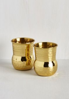 One Brass Hurrah Shot Glass Set From the Home Decor Discovery Community at www.DecoandBloom.com