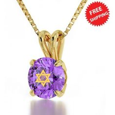 "These inspiring necklaces for women feature the 'Shema"" in Hebrew from Deuteronomy Inscribed exclusively in pure gold on swarovski and framed in a 3 microns gold plated pendant. Communion Cups, Christian Jewelry, Gold Plated Necklace, 14 Karat Gold, Gold Bands, Gifts For Women, Jewelry Gifts, Swarovski Crystals"