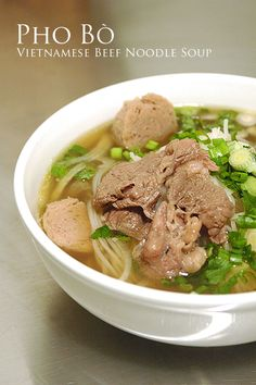 pho bo: vietnamese beef noddle soup... can't get enough of this. If you live in Montgomery Saigon Deli is the place.