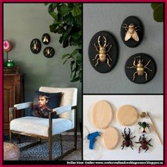 Dollar Store Crafter: DIY Gilded Insect Faux Taxidermy
