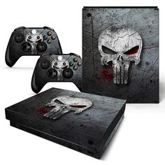 Sensible Skulls Xbox One S 11 Sticker Console Decal Xbox One Controller Vinyl Skin Faceplates, Decals & Stickers Video Games & Consoles