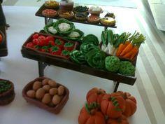 Tutoriels chez santounette Decoration, Strawberry, Veggies, Shops, Miniatures, Daycares, Handmade Crafts, Templates, Papercraft