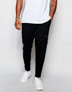 Mega seje Nike TF Cropped Skinny Joggers 727355-010 - Black Nike Joggers til Herrer til hverdag og til fest