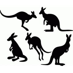 Welcome to the Silhouette Design Store, your source for craft machine cut files, fonts, SVGs, and other digital content for use with the Silhouette CAMEO® and other electronic cutting machines. Silhouette Clip Art, Animal Silhouette, Silhouette Design, Australian Animals, Australian Art, Kangaroo Craft, Australia Crafts, Animal Cutouts, Animal Stencil