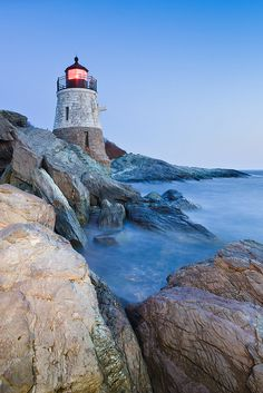 Castle Hill Lighthouse ~ Newport, Rhode Island (photo by Enzo Figueres, New Haven, Connecticut)....