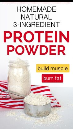 Making your own natural protein powder at home has never been so easy. You only need 3 store-bought ingredients. Plus, this recipe is super cheap, and recommended by dietitians. From now on you'll never have to buy Best Natural Protein Powder, Best Cheap Protein Powder, Homemade Protein Powder, Healthiest Protein Powder, Homemade Protein Shakes, Healthy Protein Shakes, Vegan Protein Powder, Protein Powder Recipes, Chocolate Protein Powder
