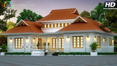 70 best handpicked house design plans of May 2019 by various designers featured on Kerala Home Design. Indian House Plans, Best House Plans, Dream House Plans, House Roof Design, Bungalow House Design, Kerala Traditional House, Traditional House Plans, Bungalow Floor Plans, Beautiful House Plans