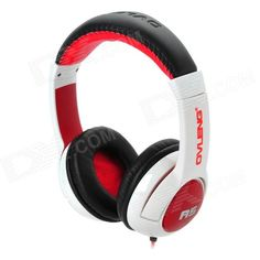 OVLENG A5 Stylish Stereo Headphones w/ Microphone / Cable Control for Iphone - White + Black + Red