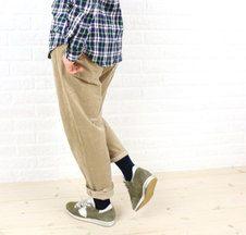 DEEP BLUEコットン ストレッチコーデュロイ ボーイフレンドパンツ Harem Pants, Fashion, Blue, Moda, Harem Trousers, Fashion Styles, Harlem Pants, Fashion Illustrations