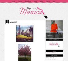 Cantinho do blog Layouts e Templates para Blogger: Mais Trabalho Mônica Blog - cliente internacional NY
