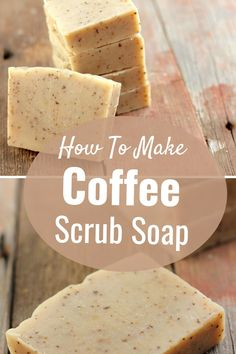Making Coffee Scrub Soap At Home. Here's a few things you should know about my soap recipes:  I like to keep things simple, and for that reason, I tend to use very   basic fats. Different fats have a different affect on your final bar Homemade Coffee Scrub, Sugar Scrub Homemade, Homemade Soap Recipes, How To Make Coffee, Natural Beauty Remedies, Diy Scrub, Homemade Beauty Products, Home Made Soap, Homeopathy