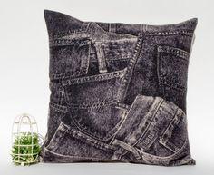 Cotton linen black jeans denim