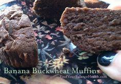 muffins Banana Buckwheat Muffins (Gluten free, processed sugar free, vegan): Detox recipe 13 of 21 Gluten Free Banana, Gluten Free Muffins, Healthy Muffins, Protein Pancakes, Buckwheat Muffins, Buckwheat Recipes, Sugar Free Vegan, Sugar Free Recipes, Clean Eating Cake