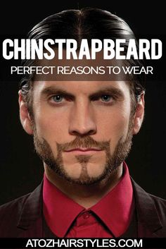 FACIAL HAIR: 40 BEST CHINSTRAP BEARD STYLES FOR MEN :: #atozhairstyles