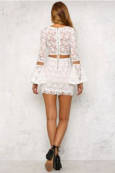 Cut Above The Rest Dress White