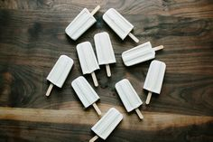 Honey Ginger Coconut Popsicles via the Happyolks crew for Kinfolk
