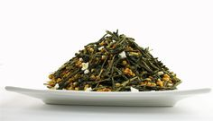 Genmaicha: is a Japanese style tea that mixes roasted brown rice ,and green tea leaves. This tea has a toasty aroma and green tea taste. It has lower in caffeine than green teas.