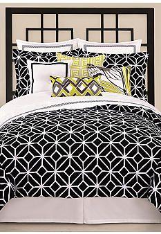 Trina Turk Trellis Black & White Bedding Collection #belk #home #patterns