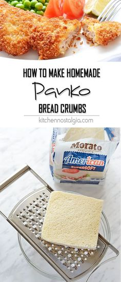Homemade Panko Breadcrumbs - it is easy to learn how to make panko breadcrumbs at home with almost no effort! Use it for crunchy coated fried or baked foods like chicken, vegetables, fish or seafood.