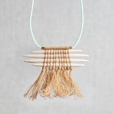 Twined Quill Necklace | http://adornmilk.com