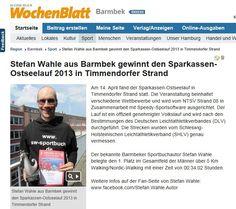 Stefan Wahle aus Barmbek gewinnt den Sparkassen-Ostseelauf 2013 in Timmendorfer Strand