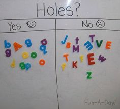Teaching Children About Letters. Also has great links to promote appropriate early childhood literacy activities