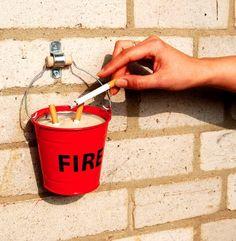 Fire Bucket Ashtray  $18.. If I had a brick home.