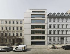 The building in Christinenstrasse is a habitable monolith made of in-situ cast concrete. A modern lightweight concrete was used with load-bearing and highly ...