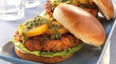 Salmon Burgers with Citrus Herb Sauce: Recipe Courtesy of Jamie Purviance.