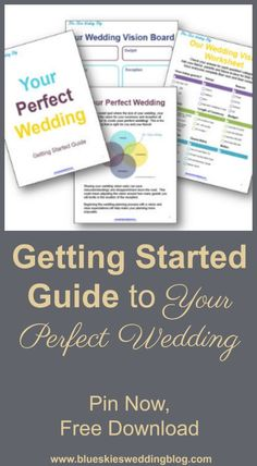 Get started creating your perfect wedding. The Wedding Vision Worksheet explores options for seasons, venues, ceremony type and length, guest attire, etc. Wedding Pins, Wedding Advice, Free Wedding, Budget Wedding, Wedding Vendors, Perfect Wedding, Wedding Blog, Our Wedding, Wedding Planning