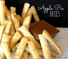 Oh my oh my, I've seen it all now, but these apple pie fries look mouth wateringly good.