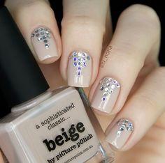 piCture pOlish 'Beige' bling-tastic mani by U-Nona! Shop on-line: www.picturepolish.com.au