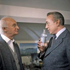 Derrick (Horst Tappert) mit Paul Hoffmann