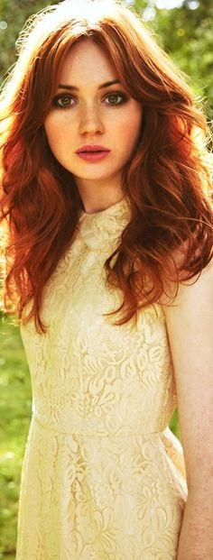 Karen Gillan- ginger queen. Pretty sure her hair needs it's own pinterest board
