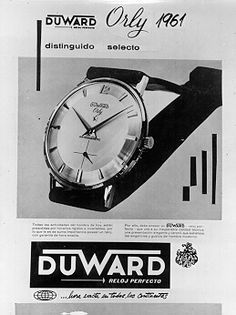Relojes Duward Serie Orly 1960
