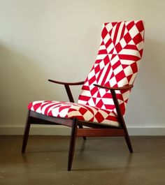 Vintage Danish High Back Lounge Chair - Products