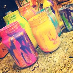 Just did these with my mom and sister! Came out pretty cool! We are going to use them as candle holders :)