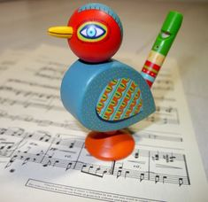 Wooden Toy Whistle