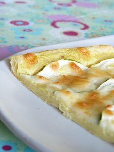 Tarte fine courgette, mozzarella & crème au curry | Cuisimiam