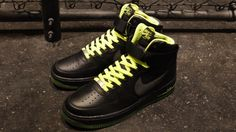 Nike Air Force 1 High – Black/Volt | SneakersBR
