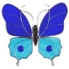 Large Blue Butterfly Suncatcher